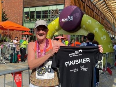 Amanda runs half marathon to support DPT Charity and thanks team at TALKWORKS